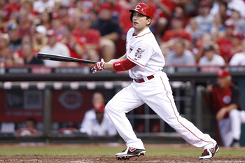 Injured Reds first baseman Joey Votto is expected back on Tuesday.