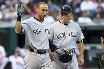 Manager Joe Girardi (right) and Jeter