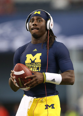 Denard Robinson was completely bottled up by Alabama's defense.