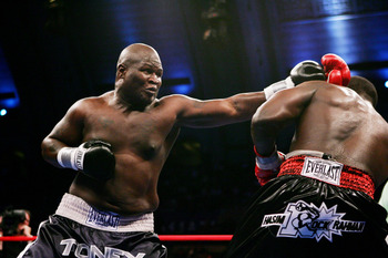 James Toney was mercifully pulled from a fight with heavyweight contender Tomasz Adamek later this year.