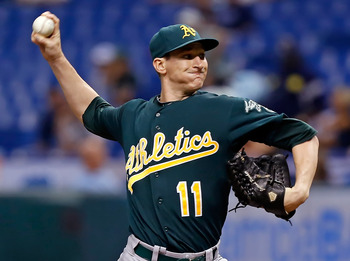 Jarrod Parker has made the A's forget all about Trevor...what's his name...Cahill.