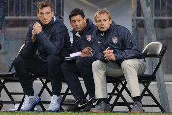 Klinsmann with his staff