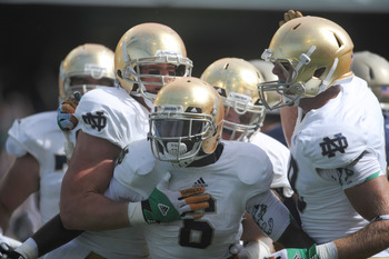 Notre Dame running backs had a track meet.