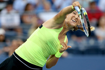 Victoria Azarenka rolled over Anna Tatishvili to reach the quarterfinals