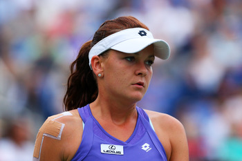 Agnieszka Radwanska gets upset in the fourth round of the US Open