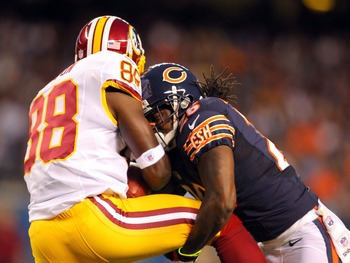 Against the Chicago Bears, Garçon fulfilled a variety of receiving roles.