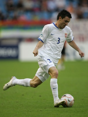 Serbian defender Rukavina.