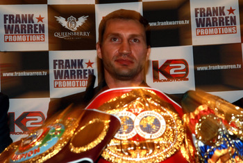 Wladimir Klitschko has owned the gold for a long time.