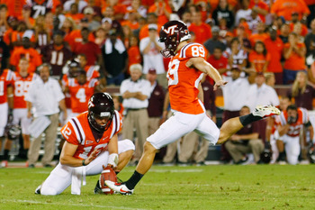 Cody Journell kicks Virginia Tech to an overtime victory.