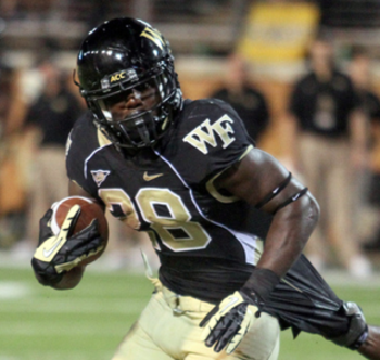 Deandre Martin scores the go ahead touchdown to seal the deal for Wake Forest against Liberty.