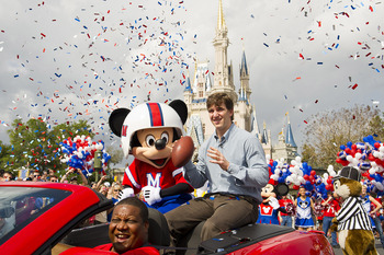 New York Giants QB Eli Manning at Disney World.
