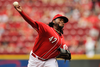 Johnny Cueto has won 17 games this year for the Reds.