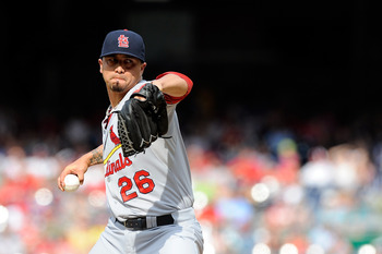 Kyle Lohse is 14-2 with a 2.81 ERA for the Cardinals this year.