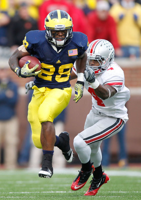Michigan was without Fitzgerald Toussaint in its season opener against Alabama.