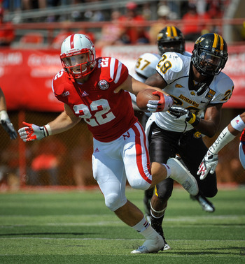 Although Rex Burkhead suffered an injury in Nebraska's season opener, he still looked impressive.