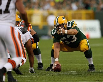 Jeff Saturday will anchor a Packers offensive line that will need to stay healthy.