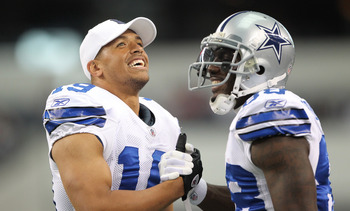 Dallas Cowboys receivers Miles Austin and Dez Bryant.
