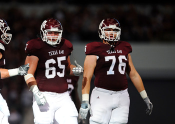 Luke Joeckel comprises one-half of the Aggies' monstrous pair of tackles.