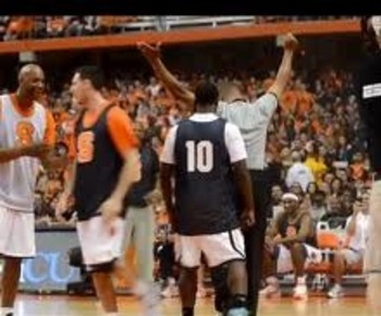 Syracuse greats of the past returned to the Carrier Dome during 2011's Midnight Madness for a Legends game. (blogs.syracuse.com)