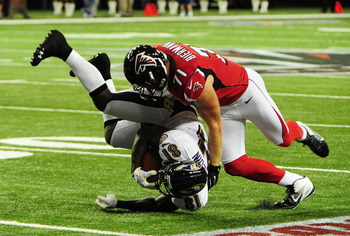 Kroy Biermann is the backup defensive end and a key special teams player for the Falcons.