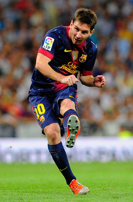 Messi scored a Champions League record 14 goals last season.