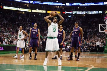 It's obvious: Rondo's doesn't shoot well enough from the stripe.