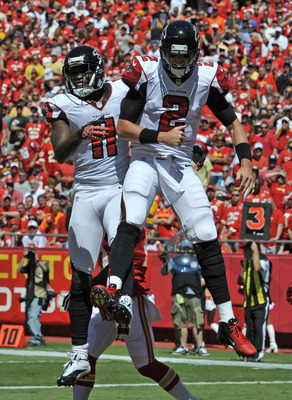 Julio Jones and Matt Ryan had a good time at Arrowhead Stadium.