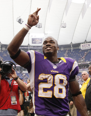 Adrian Peterson scored twice in the season-opening win over Jacksonville.