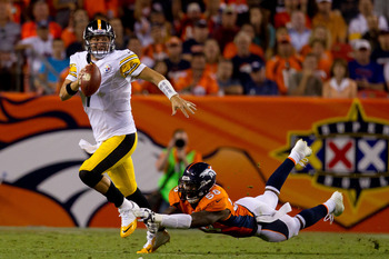 The elusive Ben Roethlisberger and the Steelers fell short at Denver.