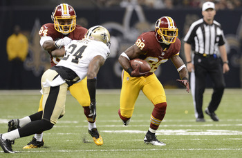 Pierre Garcon got the Redskins off to a good start at the Superdome.
