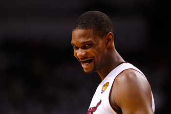 As good as Chris Bosh is, he's not a true center.