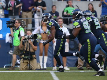 Brandon Browner scored a touchdown in the preseason, picking up where he finished the 2011 season.