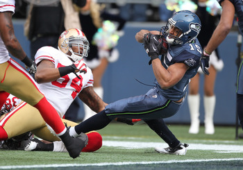 Doug Baldwin scored in both games against the 49ers in 2011. He'll try to make it 4-4 in 2012.