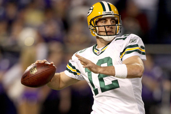 Aaron Rodgers had more 300-yard passing games (eight) than interceptions (six) last season.