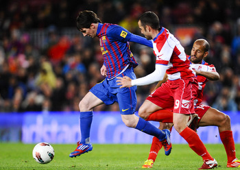Messi at FC Barcelona VS Granada FC March 20 2012