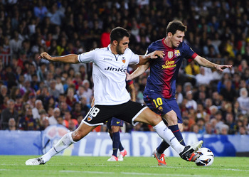Messi in FC Barcelona VS Valencia CF