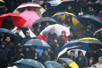 Don't forget your waterproofs for Muirfield in 2013