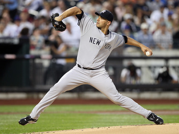 Andy Pettitte delivering a strike