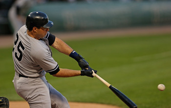 Mark Teixeira making contact