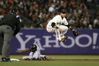 Brandon Crawford is making a difficult double play look routine.