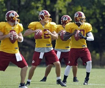 Kirk Cousins (12) became  the center of attention after a strong preseason. (AP)