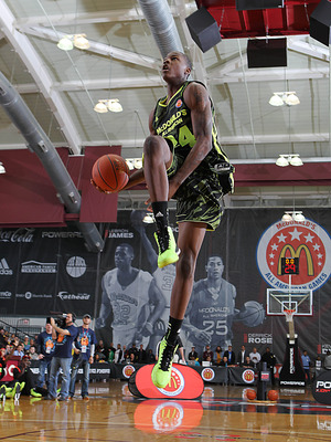Goodwin at the McDonald's Slam Dunk Contest. He'll wear No. 10 next year.