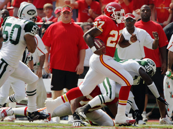 Larry Johnson's TD run three plays into the 2005 season opener was a sign of bad things to come in a 4-12 season.