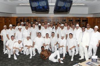 The team donned all-white for an April road trip to New York - Photo Credit: tampabay.com