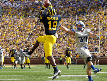 Devin Funchess had a 30-yard touchdown grab Saturday.