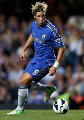 LONDON, ENGLAND - AUGUST 22:  Fernando Torres of Chelsea in action during the Barclays Premier League match between Chelsea and Reading at Stamford Bridge on August 22, 2012 in London, England.  (Photo by Mark Thompson/Getty Images)