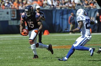Brandon Marshall grabbing one of his nine receptions.
