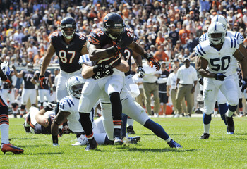 Matt Forte finished with 120 total yards for the Bears today.