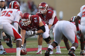 Travis Swanson was a part of an offensive line that let Louisiana-Monroe get to the quarterback Tyler Wilson time after time.