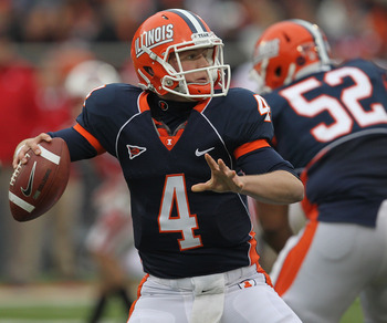 Reilly O'Toole got his chance to prove he could be Illinois starting quarterback, but didn't fare well.